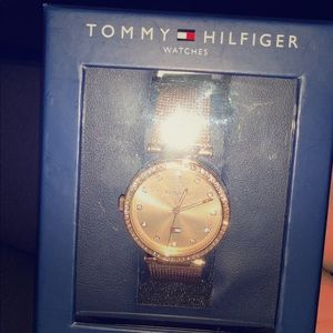 tommy hilfiger, rose gold, brand new